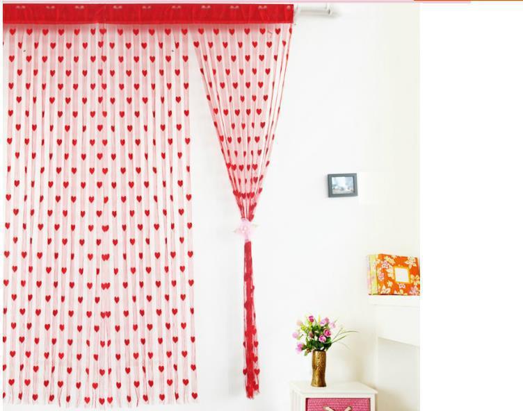 coeur de la mode ligne gland chaîne rideau de porte fenêtre paravent rideau cantonnière drop shipping livraison gratuite
