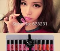 12 pcs/set 12 Different colors 3ce lipstick HOT Selling 2014 Women's Lipgloss new Lip Gloss makeup