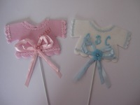 baby shower favor baby clothes pick blue pink  BOY GIRL baby shower favor party decorations supplies It's Boy Girl