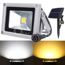 Hot Sale 10W Solar Power LED Flood Night Light Waterproof Outdoor Garden Landscape Spotlight Wall Lamp Bulb Free Shipping(China (Mainland))