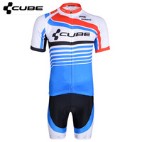 Free shipping team short-sleeved jersey suits men and women bicycle clothing riding pants