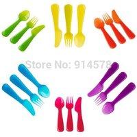 18 Pc Plastic  Fork Spoon Knife Cutlery Set  for Kids baby children  PBA Free