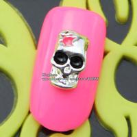 sh565 metalic studs nail art 50pcs free shipping wholesale glitter nail tips brand jewelry accessries plated silver ,black