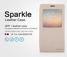 Phone Case For Xiaomi Miui Hongmi Note Redmi Note Cases New NILLKIN Sparkle Series Flip Ultra-thin PU Leather Phone Cover
