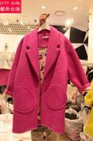 2014 winter new authentic ladies small fragrant wind woolen coat long paragraph Girls temperament elegant woolen coat tide