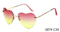 Free shipping Love Heart Style  Sunglasses Woman Street Snap Sunglasses Female Retro Eyewear  Dropship