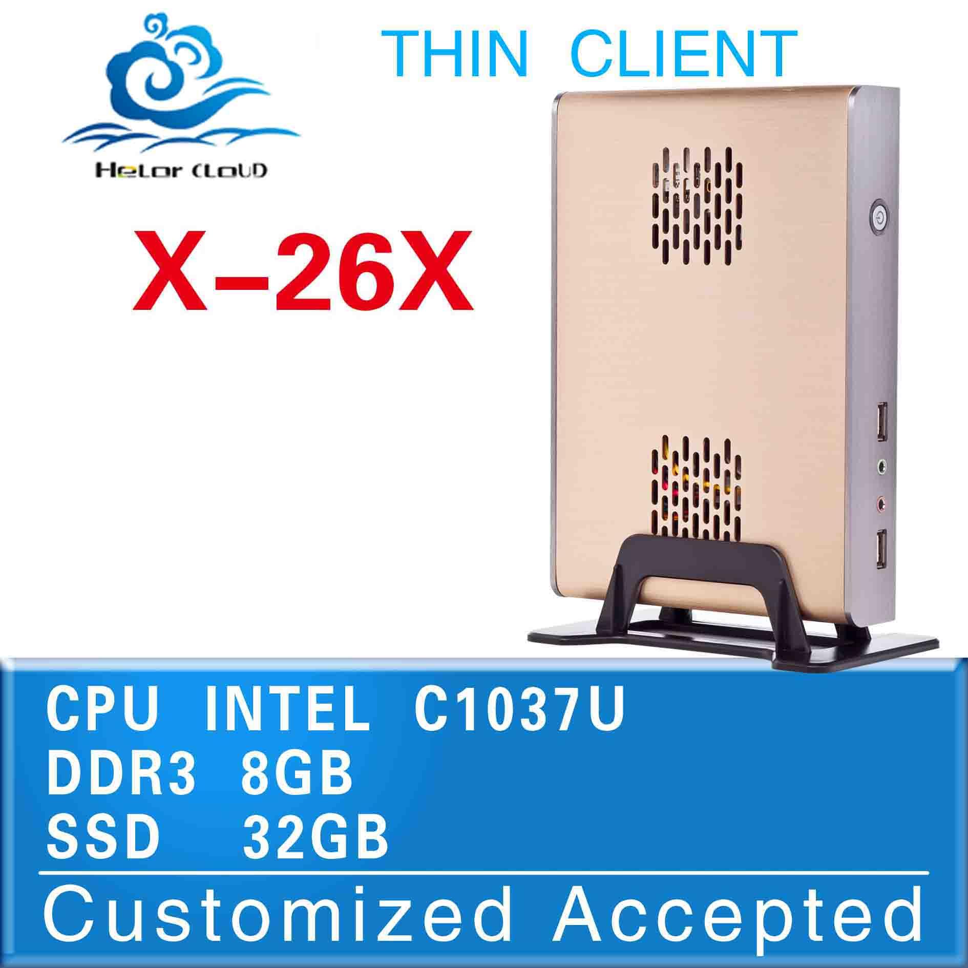 no noise less heat Intel C1037U Wireless cloud terminal terminal pc station computer terminal oem/odm station network terminal(China (Mainland))