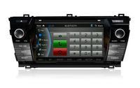 Top quality 7inch GPS navigation system CASKA CAR DVD player CA281-Q8 for Toyota corolla 2014 version bluetooth 800X480 CA281-Q8