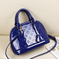 Women's bags 2014 handbag shoulder bag messenger bag fashion japanned leather shell bag women's handbag