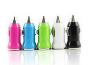 With IC protection charging head with USB car charger The bullet car charger mini usb car charger