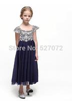 2015 New Fashion WL-MONSOON kids dress princess flowers dress European-American design girls sweet dress for evening dress