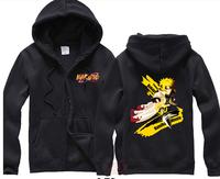 Naruto Cartoon Hoodies Zip Cardigan Sweatshirt Men Plus Size Sport Hoodie DM-6