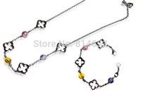 Wholesale Stainless Steel Necklace Bracelet Jewelry Set