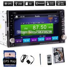 Car DVD player GPS Glonass Bluetooth 2 DIN universal for X-TRAIL Qashqai x trail juke for nissan Stereo Radio Bluetooth USB/SD (China (Mainland))