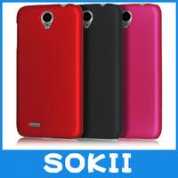 [case]Sokii,For Lenovo A850 hard rubber cover,Hybrid Hard Case Cover For Lenovo A850 back cover+Screen protector