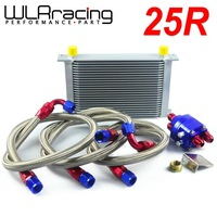 WLR STORE-UNIVERSAL 25 ROW AN10 ENGINE TRANSMISS OIL COOLER KIT +FILTER RELOCATION BLUE