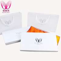 [ High-end scarves packaged gift box] large square silk scarf white packaging boxes of original special
