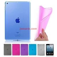 Colourful TPU Clear Soft Back Case for iPad mini 1 2 3