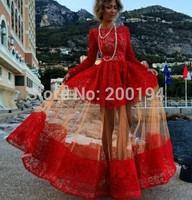 2014 New Lace Summer Dress Fashion Casual Big Wing Maxi Dress Vestidos Women Black mesh patchwork rose Hollow out Long Dress