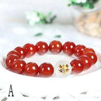 2014 New Anime Jewelry Fate zero Saber bracelet 100% agate+crystal bracelets for women Cosplsy model Christmas gift