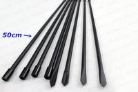 Carp Fishing Rod Pod Aluminum Fishing Bank Sticks Black color 50cm Free Shipping