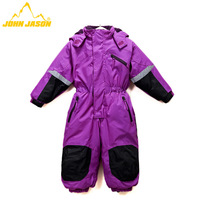 Qiaojie Sen authentic outdoor clothing for boys and girls conjoined Siamese Children's ski suit jacket windproof waterproof