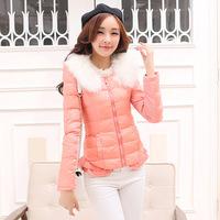 Ms. cotton padded winter coat jacket 2014 new fashion short paragraph Slim flounced jacket