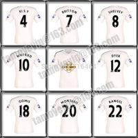 14 15 Swansea City WILLIAMS BRITTON WILFRIED GOMIS RANGEL jersey soccer home white best top quality 2015 Swansea soccer jersey