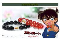 2014 New Anime Jewelry Detective conan bracelet 100% agate+crystal bracelets for women Cosplsy model Christmas gift