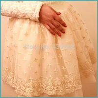 Socialite embroidery short skirt of bitter fleabane bitter fleabane princess wind flowers White gauze embroidery lace skirts