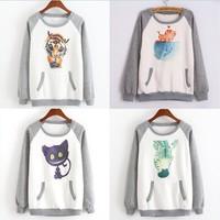 [Magic] fleece inside warm winter cotton hoodies 15 models cartoon Digital Print casual sweatshirt one size free shipping