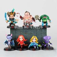 Free shipping DOTA 2 Kunkka Lina Pudge Queen Tidehunter CM FV PVC Action Figures Collectible Toys 7pcs/lot HWMV052