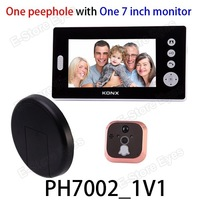 "Free shipping 1pc/tvc-mall KONX 7"" LCD Wireless Peephole TFT LCD Digital Door Viewer Doorbell Security Camera PH7002-1V1"