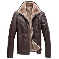 New men short paragraph thick fur coat in winter 2014 men's casual leather jacket plus essential cashmere coat XL-5XL
