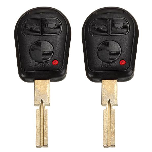 Гаджет  2x Remote Key Case Shell Fob 3 Buttons For BMW 3 5 7 Series Z3 E46 E39 E38 740iL 740i 323i 528i 540i 318i 535i 525i 530i Blade  None Автомобили и Мотоциклы