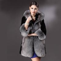 2014 New Arrived European Women's Fashion Faux Fur Overcoat,Winter Women Faux Fur Coat Plus Size