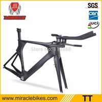 Good Quality OEM Time Trial 100% Full Carbon Fiber Bike Frame,TT Bike For Carbon Bicycle Frame With Frame ,Fork,stem,handlebar