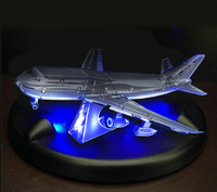 3D Puzzles LED Base DIY Boys Toy Christmas Gift Flashing The Boeing 747 Model 3D Metal Jigsaw