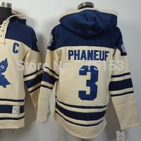 Old Time Hockey Hoodie Toronto  #3 Dion Phaneuf NHL Men Ice Hockey Hoodies Jersey Hooded Sweatshirts