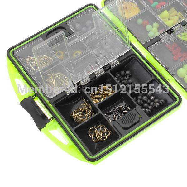 Free Shipping 1pcs Snap Jigs Beads Hooks Box Assorted Fishing Fish Tackles Swivels Lures boxed set 166g GZ2(China (Mainland))