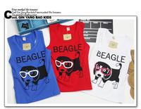 girls boys kids cotton summer cartoon animal dog doggy character tanks camisoles 1pcs KT332R