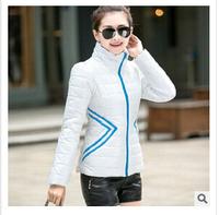 New fashion 2014 Winter Slim Down short padded collar long-sleeved zipper coat Women duck down jacket 3color M-XXL