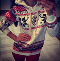 FanShou Drop Ship Women Hoody Casual Hooded Sweatshirt Fashion Pullovers Snowflake Printed Hoodies Sudaderas Moleton Feminine