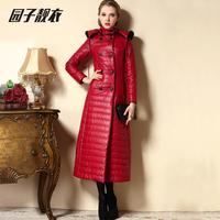 2014 winter outerwear wadded jacket female long design plus size clothing cotton-padded jacket PARKAS