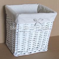 SWillow laundry basket large garbage hamper rattan storage basket storage bucket with cover
