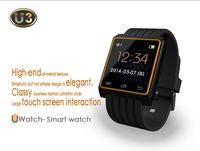 Hot Bluetooth Smart U Watch U3 Wrist Watch With Touch Screen Sensor 2014 New Sports Wristwatch Remote Camera