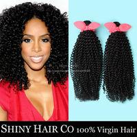 4 Bundles Brazilian Virgin Hair Kinky Curly Natural Black 6A Unprocessed Human Hair Weave Wowigs Virgin Hair Grace Hair Products
