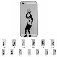 1PCS Sport Basketball Star Air Michael Jordan Team Hard Case for iPhone 5 5S Printed Hard Plastic Protective Phone Case Covers