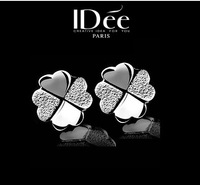2015 Trendy 925 Sterling Silver Jewelry Clover Earrings