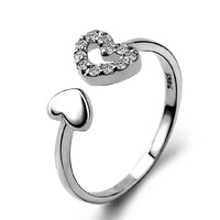925 sterling silver ring silver female models cute careful not scheduled to fly birthday gift ring opening ring